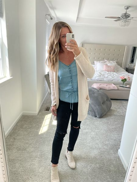 Love tops that are so easy to transition into fall with. This one you can find @shopstriped and use heatherg15 for a discount   #LTKstyletip #LTKunder50