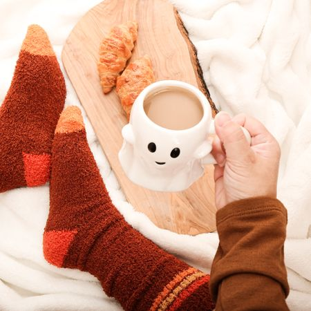 Wishing for fall vibes so I'm bringing cozy socks and long sleeved tees to my feed!  Isn't this the cutest ghost mug?!    #LTKSeasonal #LTKmens #LTKstyletip
