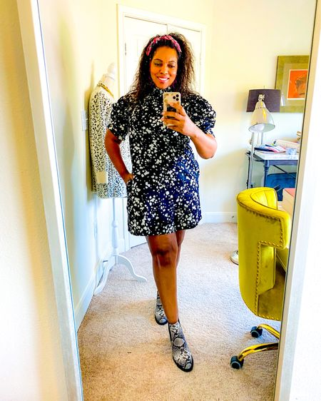 Loving this easy dress from @whowhatwear  Dresses are my new go-tos - I can be Zoom ready in a flash and stay comfortable all day. Transition this into fall with cute neutrals so you don't have to worry about coordinating.  Try out a great pair of on trend snakeskin boots like these, or keep it low key and casual with a black slip on sneaker.  Which look is more you? Boots or sneakers? Shop this look by heading to the link in my bio or taking a screenshot of this if you have the @liketoknow.it app. #liketkit http://liketk.it/2Y5Ue