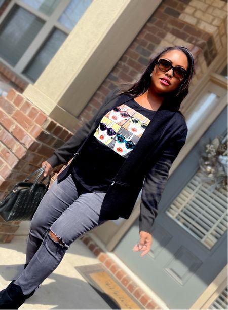Sunday Style Vybes 👓  #springstyle#transitionstyle#diorglasses#ootd#fashionblogger#dior#ny&co#rippedjeans#jeans#styleinspi#sundayfashion#fashionista#springstyle#blackeverything#ltkunder50#ltkseasonal#ltkfashion#mystyle  #LTKsalealert #LTKbeauty #LTKstyletip