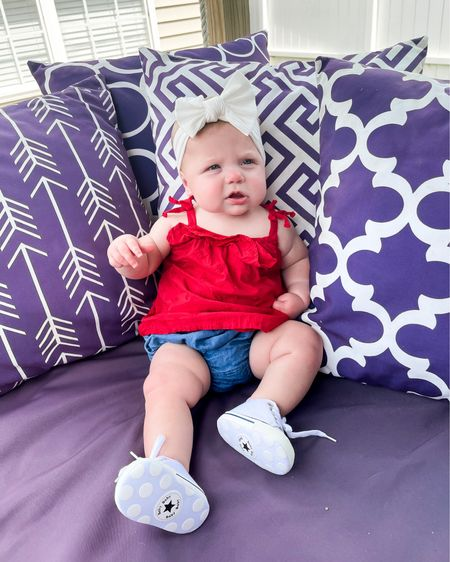 Red white and blue outfit for baby girl on 4th of July! 🇺🇸   http://liketk.it/3j0Pl #liketkit @liketoknow.it #LTKbaby #LTKunder50 #LTKfamily #oldnavystyle