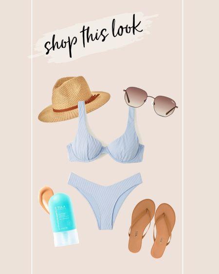 Shop this look!! // Abercrombie, Nordstrom, Tula, swim, sandals http://liketk.it/3jOel #liketkit @liketoknow.it #LTKsalealert #LTKstyletip #LTKunder100