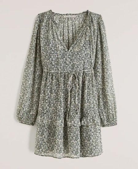 Shop one of my favorite printed flower dresses from Abercrombie! #abercrombie #falldresses #printeddress   #LTKstyletip #LTKSale