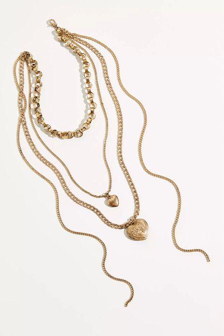 Cutie layer necklace from Freepeople ✨✨ Love their boho style jewelry   http://liketk.it/3c5ZO #liketkit @liketoknow.it #LTKstyletip #LTKunder100 #LTKunder50 #necklace #jewelry #layernecklace #accessories #heart #pendant