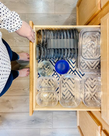"""http://liketk.it/3jQ14 #liketkit @liketoknow.it Organized """"Tupperware"""" drawer! An organized kitchen deserves a tidy drawer with matching food storage containers, and these Rubbermaid containers are the absolute best. I swear by them! #LTKhome #kitchen"""