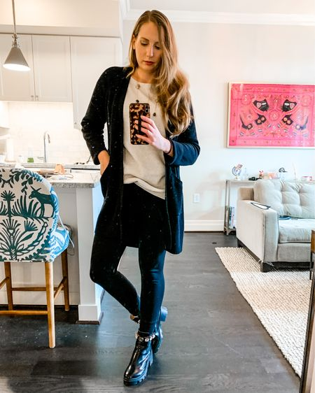 Fave WFH uniform for cold days alert! I love the casual-chic vibes of this look and if you've been following my IG, you know how obsessed I am with these boots! I'm also wearing the Heat Tech leggings from @uniqlo which are soo warm and cozy! All outfit items linked via @liketoknow.it (download the app to shop!). http://liketk.it/38h4K  . . .  #liketkit #StayHomeWithLTK #LTKSeasonal #dcblogger #coldweatherstyle #combatboots #casualchicstyle #dcfashionblogger #wfhstyle #comfychic #longcardigan #citystyle #winterstyles #springstyle #livingroomstyle
