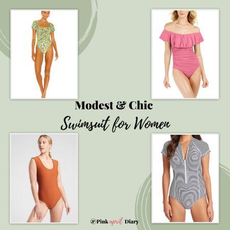 Chic and Modest swimsuits for women! http://liketk.it/3d9LA #liketkit @liketoknow.it