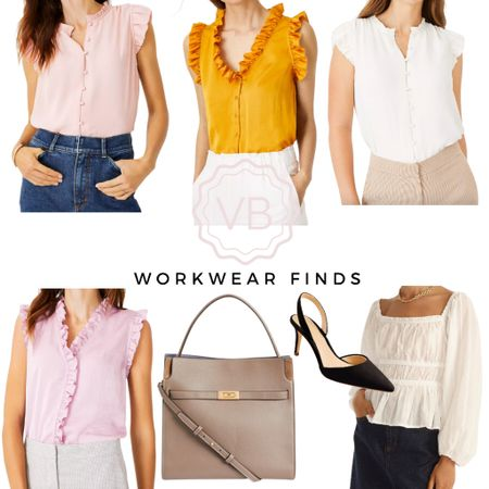 Feminine workwear finds you can wear now through fall! Love the ruffle details on these blouses!   #LTKworkwear