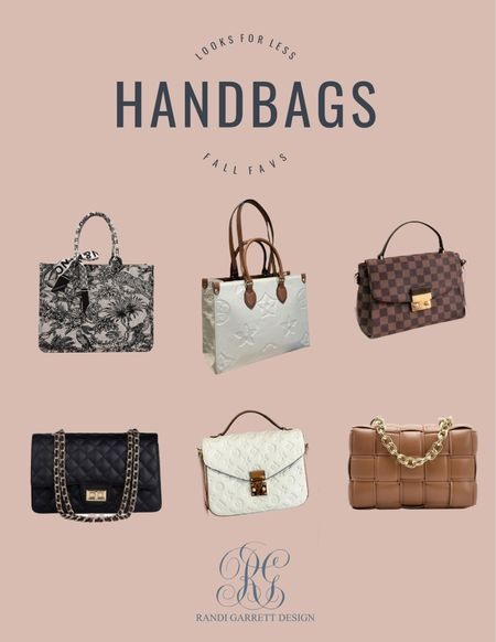 Looks for less, fall handbags you will love!   #LTKstyletip #LTKunder100 #LTKSeasonal