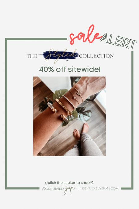 always get asked about my bracelet stack - a lot of it is from The Styled Collection, and I can't recommend them enough! Their quality is amazing 👌🏽  40% off sitewide today through 9/21! grab your stack now 🙃 Follow my shop on the @shop.LTK app to shop this post and get my exclusive app-only content!  #affordable #bracelets #designerinspired #thestyledcollection #cartier #davidyurman   #LTKSale #LTKunder50 #LTKstyletip