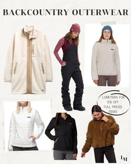 Backcountry outerwear on sale with my code LOMEYER15 😻  #LTKsalealert #LTKSeasonal