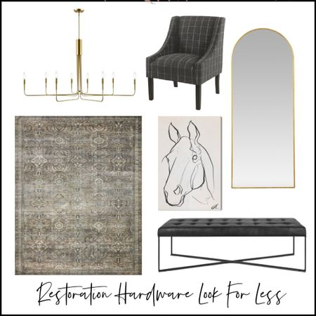The Restoration Hardware look for less. Get the look at a fraction of the price with these affordable furniture abs home decor accessories.   #LTKstyletip #LTKsalealert #LTKhome