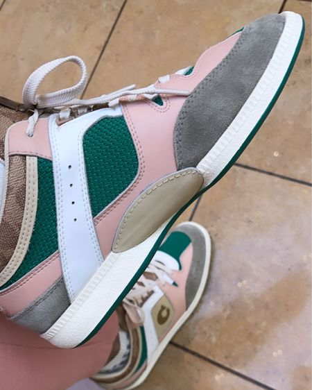 It's the Pink and Green for me! I had to get these from Coach when I saw them! Looks like they are sold out but I linked another pair that's on sale for $97.50! Shop your screenshot of this pic with the @liketoknow.it shopping app! #liketkit http://liketk.it/34DEz #LTKsalealert #LTKshoecrush #shoes #sneakers #coach