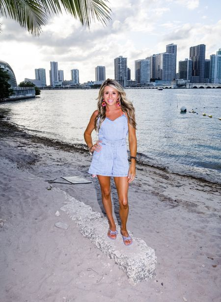 The most perfect denim romper by Mumu. It's the Sloane in XS and if you sign up for their email list you save 15%!   #LTKfamily #LTKtravel #LTKstyletip