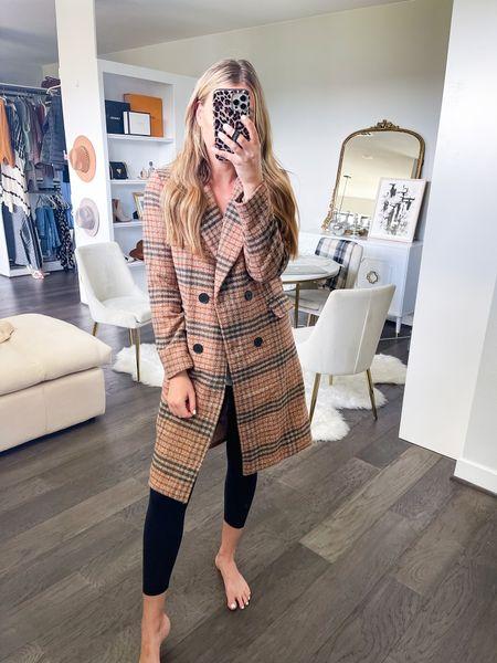 Amazon wool plaid coat! Size small #amazonfashion #fallfashion  #LTKstyletip #LTKsalealert #LTKSeasonal
