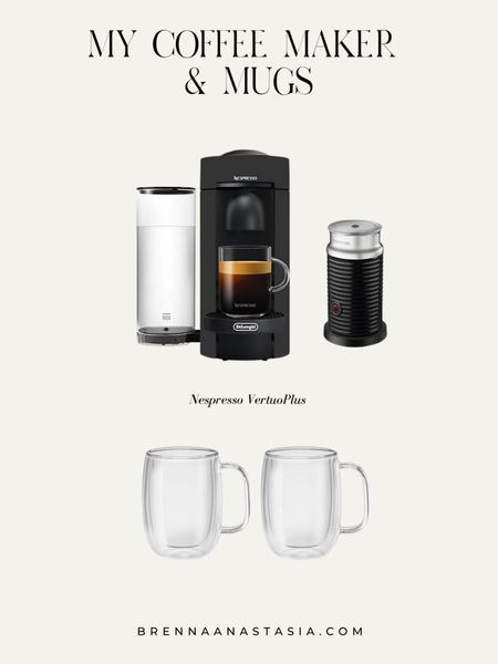 Nespresso VertuoPlus, Coffee Maker, Frother, Glass Mugs - First time customers can use CODE 'BIRTHDAY' for $15 off an order of $50 or more! Second time customers can use code 'HELLO10' for $10 off an order of $25 or more! ✨ @qvc ad   @liketoknow.it #liketkit http://liketk.it/3ibFK #LTKsalealert #LTKhome