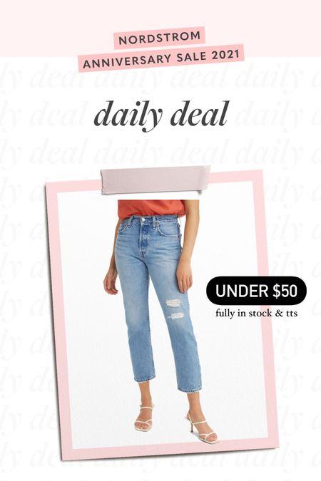 mom jeans, high waisted jeans, distressed denim, nsale, Nordstrom sale   #LTKsalealert #LTKunder50