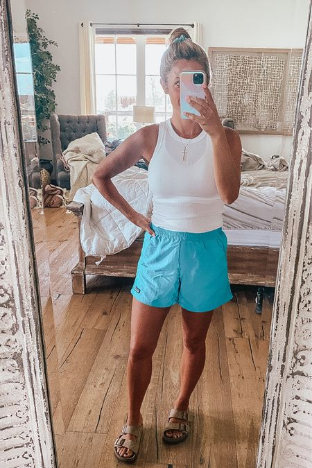 My favorite Patagonia baggies shorts! Wearing a small and comes in multiple colors! Top is A New Day from Target and $8! @liketoknow.it Shop my daily looks by following me on the LIKEtoKNOW.it shopping app http://liketk.it/3jWXW #liketkit #LTKsalealert #LTKshoecrush #LTKunder50