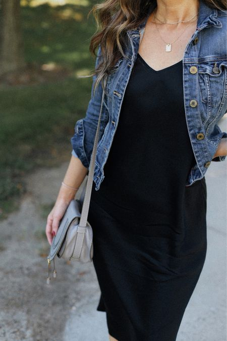 Silk dress in size small. Jacket super old, linking great options    #LTKstyletip #LTKunder100