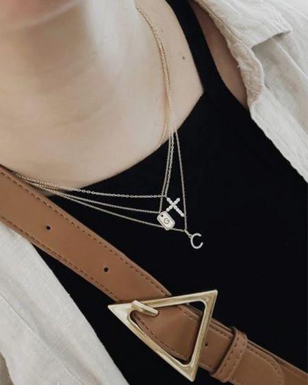 dainty necklace stack under $100 #necklace  #LTKunder100 #LTKunder50