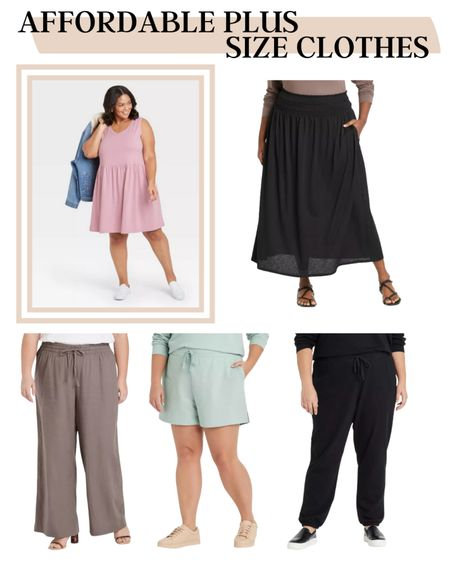 Plus sizes clothes don't have to be expensive. Check out these cute and affordable plus size clothes.  #LTKunder50 #LTKcurves