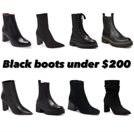 Black boots under $200  #LTKshoecrush