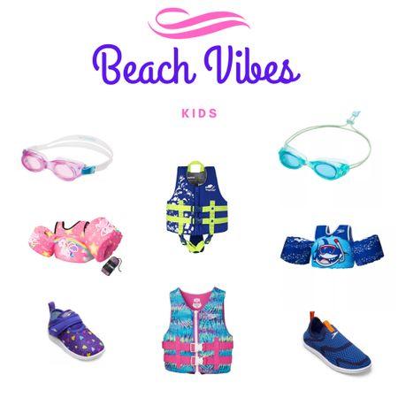 Swim vest, swim shoes, googles and water shoes for boys and girls  http://liketk.it/3gc20 @liketoknow.it #liketkit #LTKsalealert #LTKkids #LTKswim