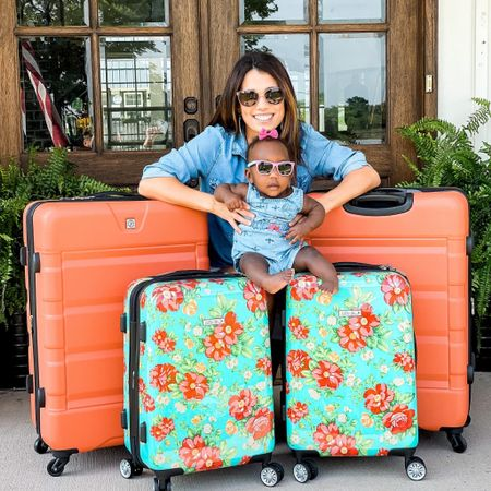 #AD After our ten day beach trip, I had enough with our used back packs and ten year old duffle bags. I wanted nice hard shell, sturdy, rollable bags. So on the way home, I choose these amazing bags from @walmart Just girlie enough for Louie and I and bright enough for the guys in my life to be easily seen when we travel. Head to stories to see the cute details inside the bags. These are wonderfully affordable, and I'm super excited to use these! Follow and Shop @shop.ltk   Louie is travel ready! ❤️   #walmart #walmartpartner #walmarthome #luggage #travel #adoption #pioneerwoman Follow my shop on the @shop.LTK app to shop this post and get my exclusive app-only content!  #liketkit #LTKbaby #LTKtravel #LTKhome @shop.ltk http://liketk.it/3kD72