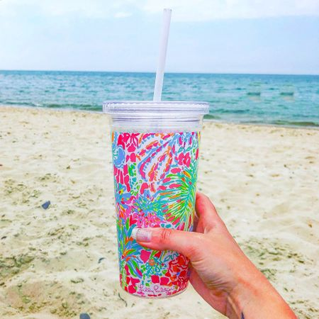 Love these Lilly Pulitzer tumblers they are perfect for the beach!   #lillypulitzer   #LTKSeasonal #LTKhome #LTKswim