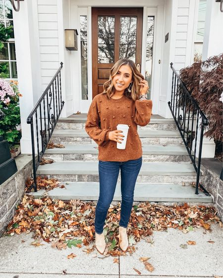 Yay for the freakin weekend & all these sales! Here's another great bobble sweater 25% off with code COZYCOMFY - and I've linked my other favs included in the promo on the LIKEtoKNOW.it app 🧡   Shop all my looks on shoppedtilshedropped.com or in the LIKEtoKNOW.it app - simply download the app, give me a follow or screenshot one of my IG pics to shop! http://liketk.it/2GI5w #liketkit @liketoknow.it