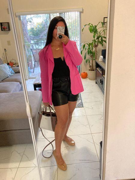Ootd last night - adore this pink linen blazer !  #LTKunder50 #LTKsalealert #LTKHoliday
