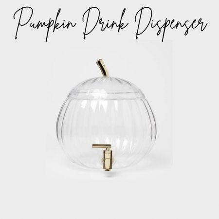 Pumpkin Drink Dispenser, Target Finds, Fall Finds, Fall Decor   #LTKunder50 #LTKhome #LTKSeasonal