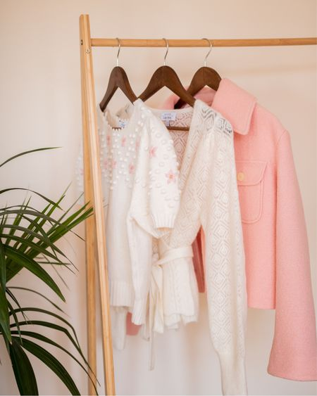 Other Stories white knits and pink wool jacket - pastel colours for Autumn   #LTKSeasonal #LTKeurope #LTKstyletip