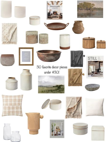 Affordable living room decor!  30 pieces under $30!  Find the entire roundup on my website.  www.thesommerhome.com    #LTKunder50 #LTKhome #LTKstyletip