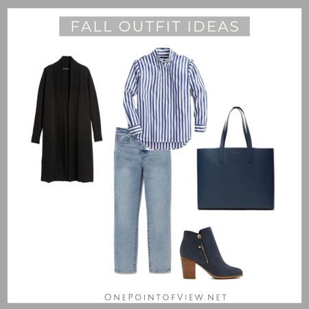 Casual and chic fall outfit idea❤️ Having a stylish cardigan is a must. Basically whatever you wear, you just throw it on and you look great.💃🏻 - fall outfits for work, fall outfits for women, casual, 2019, cardigan, tote bag, jeans, cardigan, striped button-down shirt, teacher outfit, ankle boots, suede boots  http://liketk.it/2FaT4 #liketkit @liketoknow.it #LTKcurves #LTKitbag #LTKsalealert #LTKshoecrush #LTKstyletip #LTKworkwear #LKTfall @liketoknow.it.europe #LTKunder100