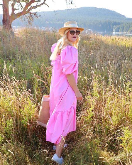 Puff sleeve dress, pink dress, HM Dress @liketoknow.it http://liketk.it/3ejcA #liketkit #LTKunder100 #LTKunder50 #LTKstyletip