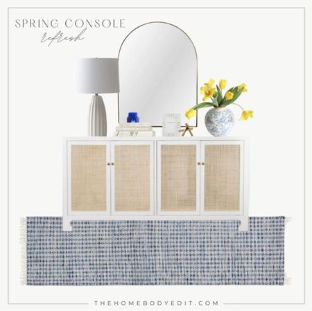 Refresh your home decor this spring with some console decor ideas, and faux florals! Follow @thehomebodyedit for the best home decor tips and ideas! #consoledecor #homedecor #springdecor   #LTKSpringSale #LTKhome #LTKSeasonal