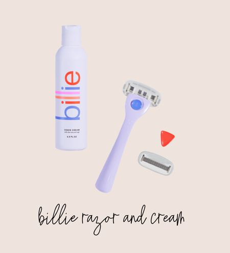 Billie razor and shave cream. I've been using for over 2 years and LOVE!   #LTKbeauty