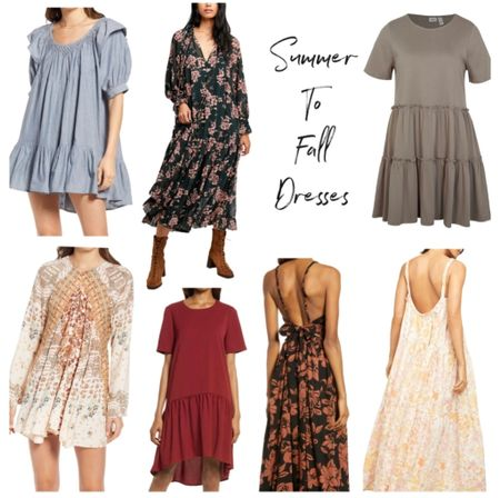 Summer to fall dress, dresses, fall outfit   #LTKunder100 #LTKstyletip