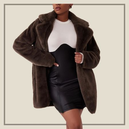 Brown solid open front coat  #LTKstyletip #LTKunder100 #LTKunder50