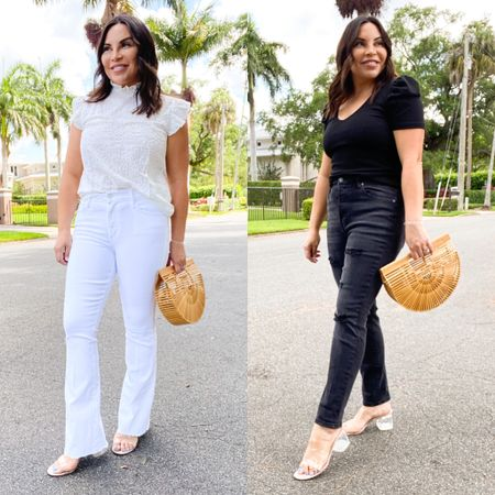 When in doubt sport a monochromatic look!!  This eyelet top has quickly become my favorite thing and who can resist a puff detail sleeve??? .   .  Shop my daily looks by following me on the LIKEtoKNOW.it shopping app or my BLOG Ninamarieblogs.com . . . . . . . . #monochromaticlooks #fashiontips #summerstyling #summerlooks #stylingtips #affordablefashion http://liketk.it/3gFro #liketkit @liketoknow.it