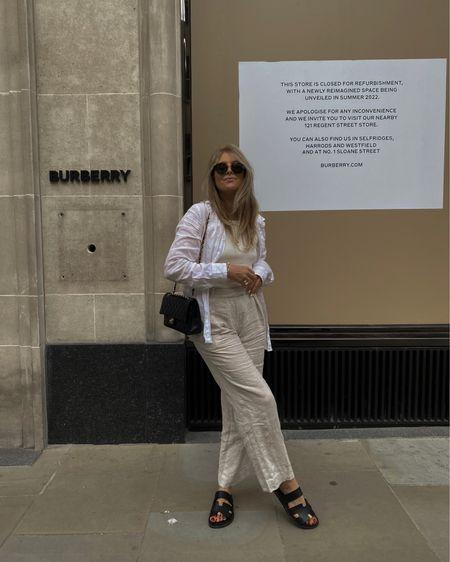 Amazon linen shirt & Arket linen trousers - neutral summer outfit. Wardrobe staples  , capsule wardrobe @liketoknow.it #liketkit http://liketk.it/3lQW8 #LTKeurope #LTKunder100 #LTKstyletip