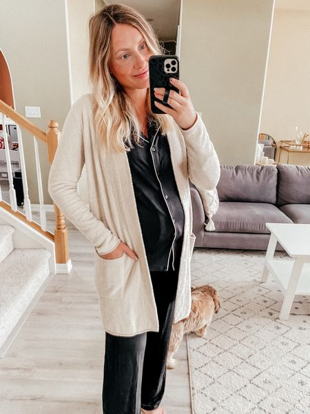 Nordstrom anniversary sale try on  Long sleeve pajamas - size S Very soft and nursing friendly  More color options!  Barefoot dreams long cardigan size S - softest cardigan, can style with comfies or dress it up!! Pricier but so worth it!! Holds up well    #LTKunder100 #LTKsalealert #LTKstyletip