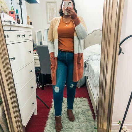 Fall color block sweater $27  #LTKcurves #LTKworkwear #LTKstyletip