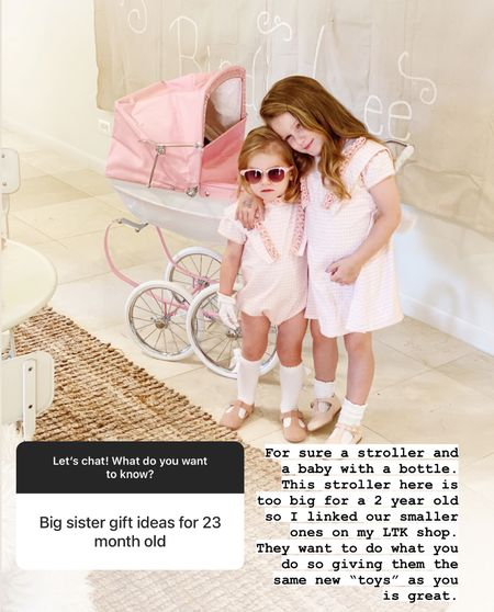 Birdie got this Silver across doll stroller for her 5th birthday present. For a new baby coming home and for a smaller child, I suggest one of these less expensive ones. I also tagged our dolls.    #LTKbaby #LTKfamily #LTKhome