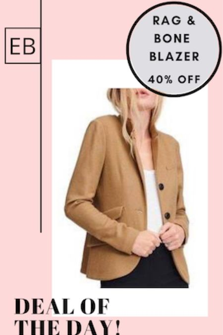 One of my favorite camel blazers is 40% off.  It has less structure than a traditional blazer.  Size down. http://liketk.it/3dJfG #liketkit @liketoknow.it #LTKsalealert #LTKworkwear #LTKstyletip Screenshot this pic to get shoppable product details with the LIKEtoKNOW.it shopping app