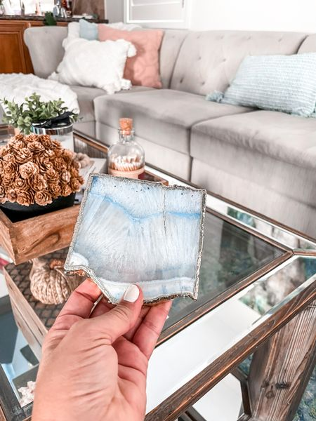 These coasters are on sale and come in several colors. They would make a great hostess gift for the holidays    #LTKHoliday #LTKhome #LTKsalealert