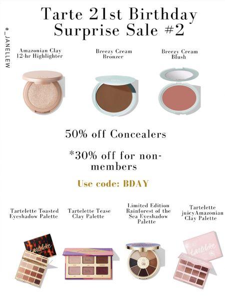 #tarte #cosmetics #makeup #sale #concealers #shapetape #tartecosmetics #cosmeticsbrand #ltkholiday #ltkunder50 #makeupsale #todayonlysale #blush #bronzer #highlighter #palette   #LTKGiftGuide #LTKbeauty #LTKsalealert