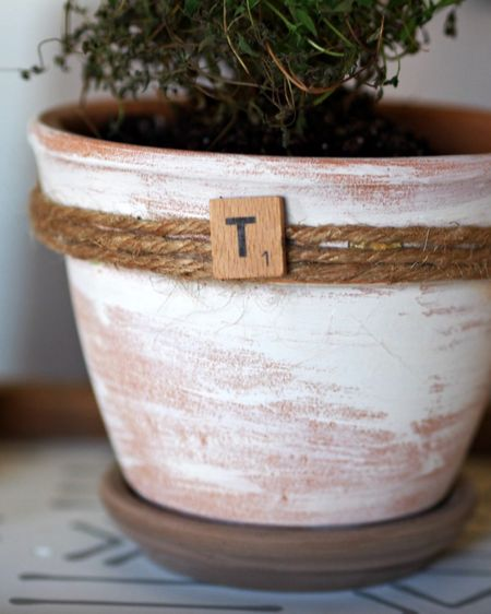 http://liketk.it/3ehl6 #liketkit @liketoknow.it @liketoknow.it.home How to distress terra cotta flower pots never got any easier!! For the full tutorial visit    https://gatheredinthekitchen.com/how-to-distress-clay-pots-farmhouse-styled-planters/ Shop your screenshot of this pic with the LIKEtoKNOW.it shopping app
