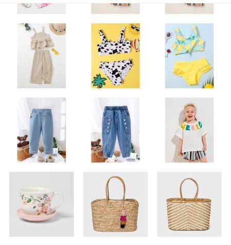 SHEIN favorites Toddler swim, toddler everyday, jute bag, tea up, straw bag, tote!   #LTKkids #LTKSeasonal #LTKunder50